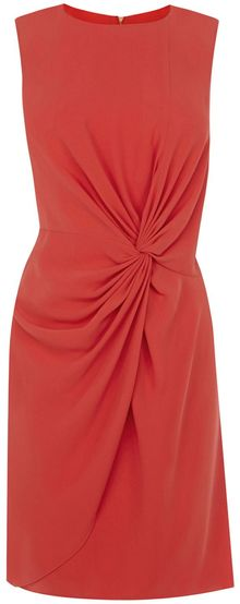 Oasis Twist Knot Crepe Dress - Lyst