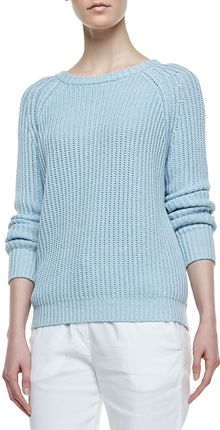 Theory Brombly Ribbed Knit Sweater - Lyst