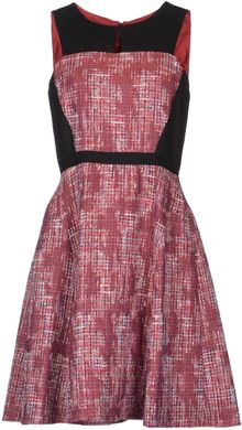 Peter Som Short Dress - Lyst