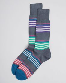 Paul Smith Color Block Stripe Socks - Lyst