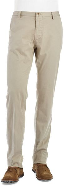 Hugo Boss Straight Legged Khaki Pants - Lyst