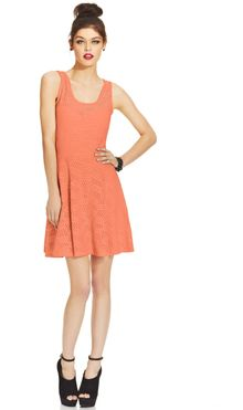 Material Girl Juniors Lace Skater Dress - Lyst
