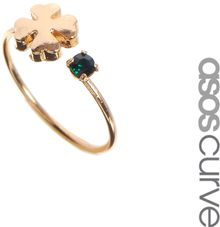 Asos Curve Good Luck Pinky Ring - Lyst
