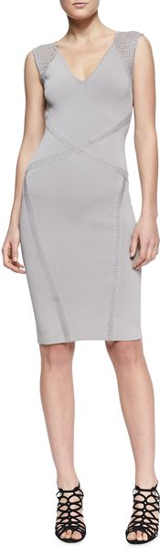 Zac Posen Crossseam Sleeveless Sheath Dress - Lyst