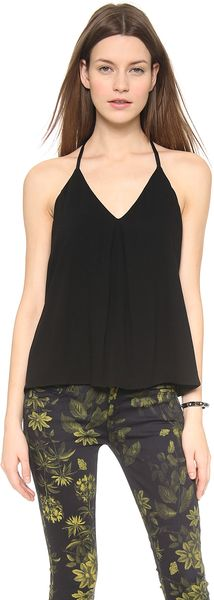 Alice + Olivia Alice Olivia Guenda Tank with Leather - Lyst