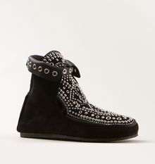 Isabel Marant Black Studded Shoes - Lyst