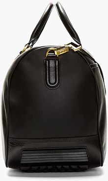 Diesel Black Smooth Leather Vanguarding Duffle Bag - Lyst