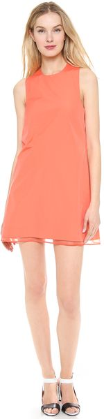 Victoria Beckham Twist Back Dress - Lyst