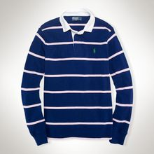 Polo Ralph Lauren Customfit Striped Rugby - Lyst