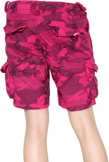 Superdry Camouflage Print Cotton Cargo Shorts - Lyst