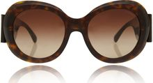 Chanel Brown Large Oval Gradient Sunglasses - Lyst