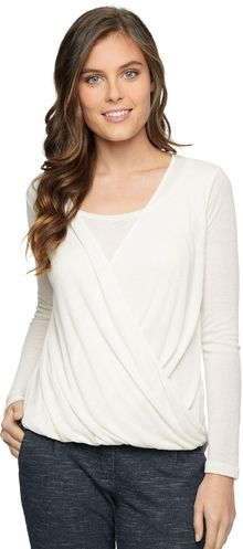 Splendid Drapey Rib Cowl Neck Top - Lyst