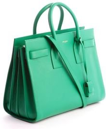 Saint Laurent Mint Calfskin Small Sac De Jour Bag - Lyst