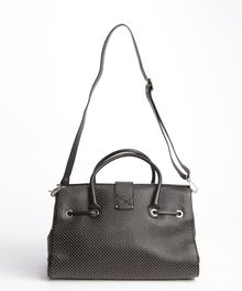 Jimmy Choo Black Studded Leather Rosalie Convertible Satchel - Lyst