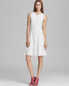 Nanette Lepore Dress Make Believe Pique and Ponte - Lyst