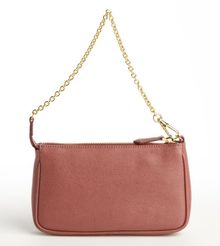 Fendi Terracotta Textured Leather Mini Chain Bagette - Lyst