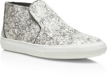 Pierre Hardy Black And White Snake Scribblecalf Sneaker - Lyst
