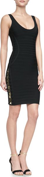 Hervé Léger Lilykate Hardware Bandage Dress Black - Lyst