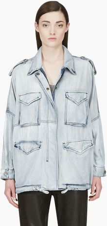 Diesel Blue Faded Dolman De_iva Denim Jacket - Lyst