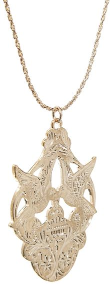 Asos Bird Pendant Necklace - Lyst