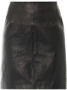 McQ by Alexander McQueen Textured Leather Skirt - Lyst