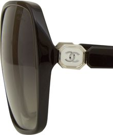 Chanel Black Large Rectangular Polarised Sunglasses - Lyst