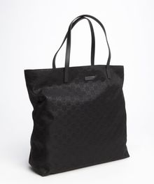 Gucci Black Ssima Nylon Shopper Tote Bag - Lyst