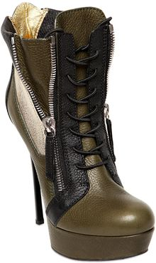 Gianmarco Lorenzi 140mm Calf Zipped Low Boots - Lyst