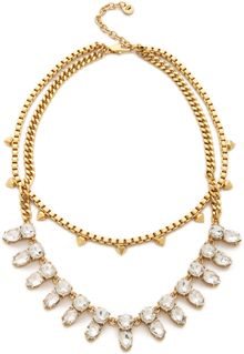 Juicy Couture Haute Hue Gemstone Double Layer Necklace - Lyst