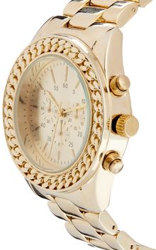 Asos Chain Link Bezel Watch - Lyst