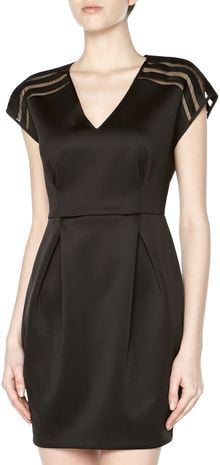 Sachin & Babi Short Sleeve Mesh Scuba Dress - Lyst