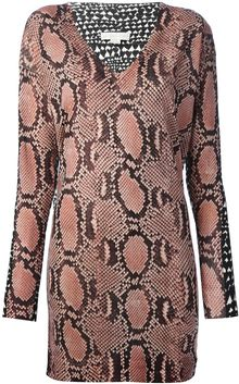 Stella McCartney Python Print Sweater Dress - Lyst