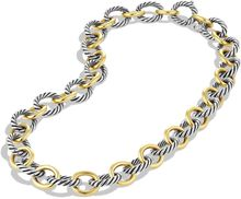 David Yurman Oval Extralarge Link Necklace with Gold 175 - Lyst