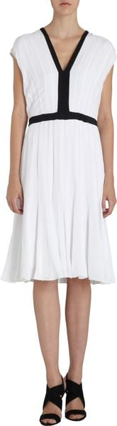 Narciso Rodriguez Pleated Dress - Lyst