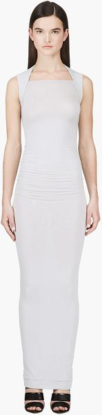 Gareth Pugh Grey Sleeveless Neoprene Maxi Dress - Lyst