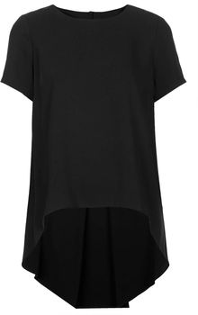 Topshop Formal Stepped Hem Tunic - Lyst
