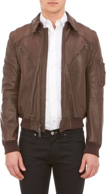 Ralph Lauren Black Label Bomber Jacket - Lyst