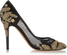 Bruno Magli Leathertrimmed Beaded Mesh Pumps - Lyst