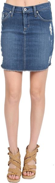James Jeans Daisy Cut Off Skirt - Lyst
