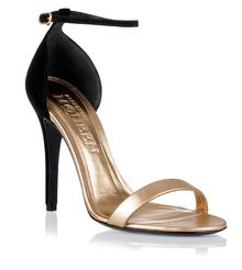 Alexander McQueen Metallic Gold Leather Sandal - Lyst