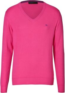 Etro Cotton V Neck Pullover - Lyst