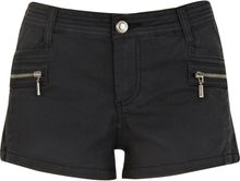 River Island Black Stitch Detail Zip Hot Pants - Lyst