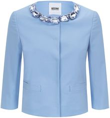 Moschino Cheap & Chic Large Jewel Neck Short Jacket - Lyst