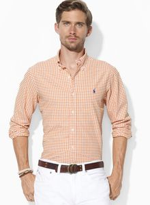 Ralph Lauren Polo Classicfit Checked Oxford Sport Shirt - Lyst