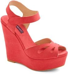 ModCloth Punch Bowl Planner Heel in Strawberry - Lyst