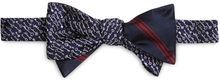 Brooks Brothers Navy Woven Keys with Thick and Thin Stripe Bb1 Print Reversible Bow Tie - Lyst