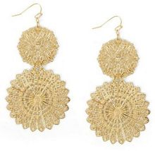 BCBGMAXAZRIA Filigree Disc Earrings - Lyst