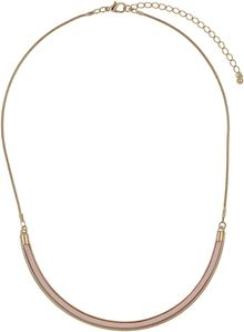 Topshop Pink Curved Bar Necklace - Lyst