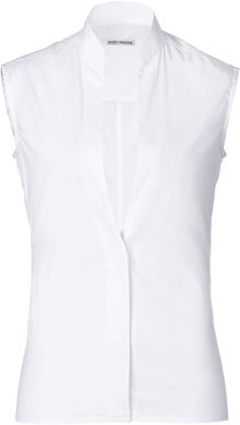 Paco Rabanne Cotton Sleeveless Shirt with Deep Vneckline - Lyst