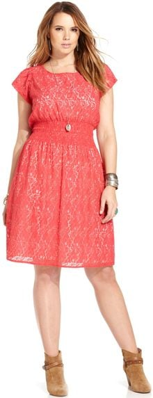 American Rag Plus Size Shortsleeve Lace Dress - Lyst